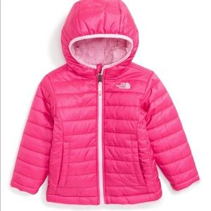 The North Face pink reversible winter coat